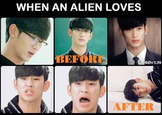 hahaha, love, it does things to ya! Do Min Joon is so cute in love. Man From the Stars...:)
