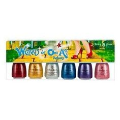 """China Glaze """"The Wizard of Ooh Ahz Retuns"""" collection. Pretty much the best nail polish set ever."""