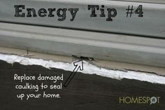 quick energy efficiency tips, go green, home maintenance repairs, how to, Learn how to repair the caulking seal Energy Saving Tips, Energy Saver, Save Energy, Saving Ideas, Energy Efficient Homes, Energy Efficiency, Diy Generator, Power Generator, Energy Bill