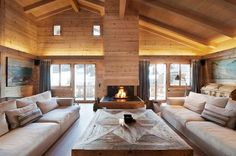 Extraordinary Wooden House in Rustic Idea Offers Warmth for You : Chalet Gstaad In The Swiss Alps Architecture Modern Chalet Chalet Design, Chalet Style, House Design, Chalet Interior, Interior Design, Interior Modern, Swiss Chalet, Swiss Alps, Wooden House