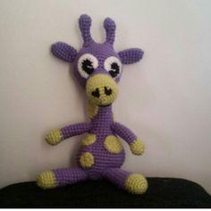 #Virkat #giraff #lila #amigurumi by virkeverkstan