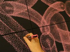 Marker pointillism (not spray paint) by Babou + Benjamin Laading