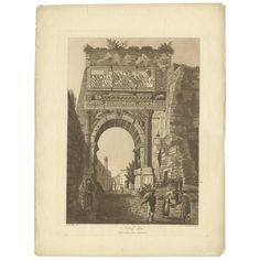 For Sale on - Antique print titled 'Arch of Titus'. Large aquatint of the Arch of Titus'. The Arch of Titus is a century AD honorific arch, located on the Via Sacra, Ancient Architecture, Sustainable Architecture, Fall Of Jerusalem, Arch Of Titus, Roman Forum, 1st Century, Architectural Salvage, Antique Prints, Art History