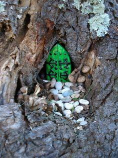 Fairy Door KIT  Very small door  Die Stone by FairybehindtheDoor, $10.50