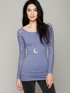 Rib & Lace Scoopneck http://www.freepeople.com/whats-new/rib-and-lace-scoopneck/