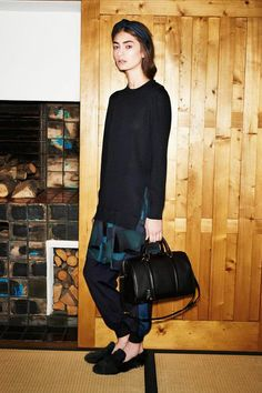 Louis Vuitton Pre-Fall 2014, loafers, bag, sweater, headband