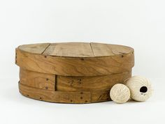 Large Rustic Round Wooden Cheese Box by tawneyvintage on Etsy, $36.00