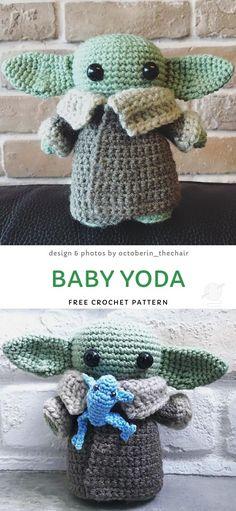 Adorable baby alien crochet ideas baby yoda free crochet pattern so cute look at the wee face Crochet Baby Toys, Crochet For Boys, Crochet Gifts, Cute Crochet, Crochet Dolls, Easy Crochet, Crochet Angels, Boy Crochet Patterns, Crochet Amigurumi Free Patterns