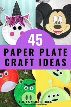 45  Paper Plate Crafts for Kids. Easy craft ideas for toddlers and preschoolers. #kidscrafts Easy Preschool Crafts, Easy Toddler Crafts, Toddler Preschool, Preschool Activities, Paper Plate Crafts For Kids, Easy Crafts For Kids, Bus Crafts, Everything Preschool, Turtle Crafts