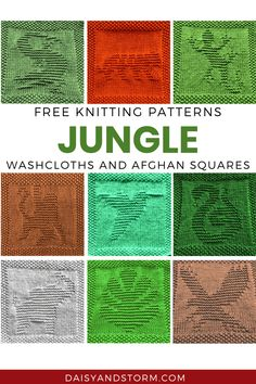 Knitted Washcloth Patterns, Knitted Washcloths, Dishcloth Knitting Patterns, Knit Dishcloth, Knitting Charts, Easy Knitting, Afghan Patterns, Knit Patterns, Sewing Patterns