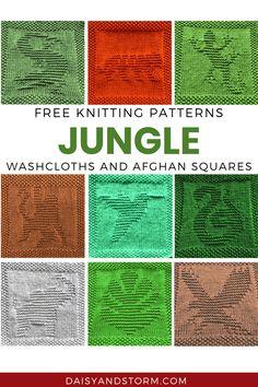 Knitted Dishcloth Patterns Free, Knitting Squares, Knitted Washcloths, Lace Knitting Patterns, Knit Dishcloth, Knitting Charts, Easy Knitting, Knitted Blankets, Knitting Stitches