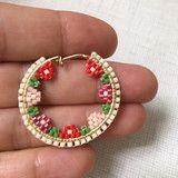 Beaded Earrings Patterns, Bead Earrings, Beading Patterns, Bead Jewellery, Beaded Jewelry, Bead Weaving, Seed Beads, Jewelry Making, Beadwork