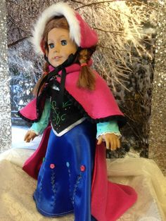 "Anna-inspired Cloak & Matching Hat For 18"" Dolls (including American Girl)"