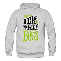 MARC Womens I Like To Ride Bikes Hoodies Ash Size XXL *** BEST VALUE BUY on Amazon