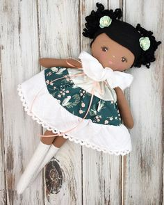 This lovely custom order was such a pleasure to create.looking for rag dolls -- Click visit link above to see Felt Dolls, Crochet Dolls, Doll Toys, Baby Dolls, African American Dolls, Creation Couture, Doll Clothes Patterns, Rag Doll Patterns, Sewing Dolls