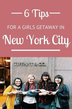6 tips for a girls getaway in New York City Thinking of NYC with a group of girlfriends? Here are 6 tips for a girls getaway in New York City including what to see, shop, eat, drink and stay! Usa Roadtrip, Travel Usa, Travel Tips, Travel Destinations, Travel Stuff, Travel Hacks, Travel Essentials, Travel Guides, New York Vacation