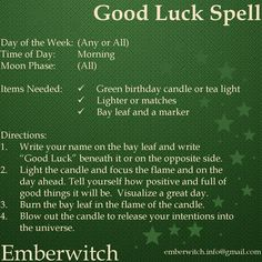 money spell Good Luck Spell Simple spell for good luck that can be done daily - wealthylife Witch Spell Book, Witchcraft Spell Books, Hoodoo Spells, Magick Spells, Wish Spell, Good Luck Spells, Witchcraft Spells For Beginners, Money Spells That Work, Prosperity Spell