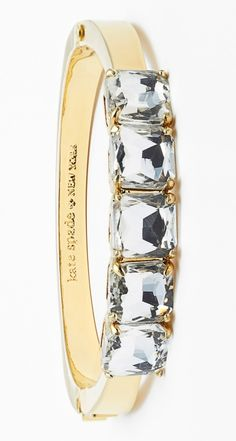 Completely crushing on this gold Kate Spade bracelet.
