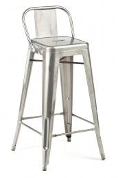 Low Back Stool, also w wood seat, blue, green, yellow, red, white, black,galvanized $145