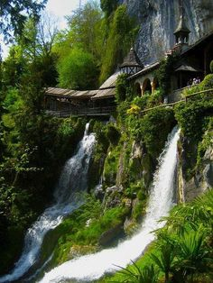 Waterfall Walkway, St. Beatus Caves - Interlaken, Switzerland