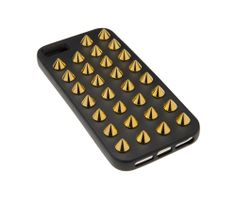 Felony Case - Studded Spiked Designer iPhone 4, 4s, 5, 5s Cases - — Matte Black Case w/ Gold Studs - iPhone 5/5s