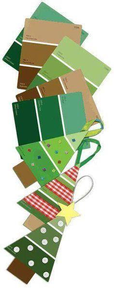 Paint color tree ornaments