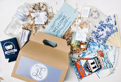 """Unique Welcome Gifts. Nothing says """"We're ready to get this party started"""" than wedding welcome gifts for your guests. Whether you've invited out-of-towners or you're hosting a destination wedding, these Wedding Welcome Gifts, Wedding Gifts For Guests, On Your Wedding Day, Wedding Favors, Wedding Weekend, Party Favors, Wedding Invitations, Wedding Decorations, Mod Wedding"""