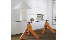 Tavolo in legno e vetro VIDUN by DE PADOVA design Vico Magistretti
