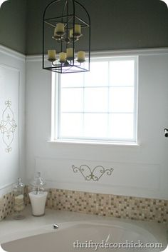 Cover a window to make it private, but still let light in (for pennies!)
