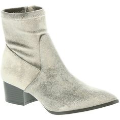 Coconuts Dotty Women's Grey Boot ($95) ❤ liked on Polyvore featuring shoes, boots, ankle booties, grey, gray boots, gray bootie, short boots, grey short boots and zip ankle boots