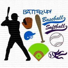 Baseball/Softball SVG Files Collection