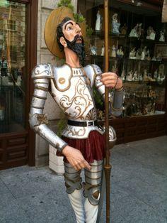Estatua de El Quijote en Toledo.