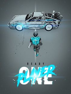 Ready Player One × Akira mashup Geeks, Akira Poster, Rock Poster, Poster Print, Best Movie Posters, Alternative Movie Posters, Film Serie, Back To The Future, Cultura Pop
