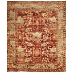 Shop for Safavieh Hand-knotted Oushak Red/ Green Wool Rug (10' x 14'). Get free shipping at Overstock.com - Your Online Home Decor Outlet Store! Get 5% in rewards with Club O!