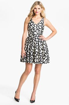 Taylor Dresses Dotted Fit & Flare Dress available at #Nordstrom