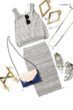 #セットアップ #knit #outfit #fashion #style #Coordinate #Accessories #bag #shose #the dayz tokyo #Earring #ニット #サングラス #ring