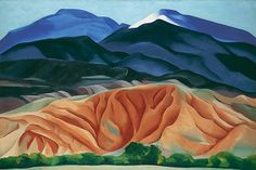 O'Keeffe: Black Mesa Landscape, New Mexico, Out Back of Marie's II (custom print)