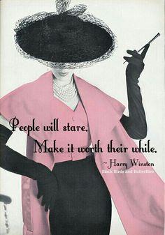 A great fashion slogan!