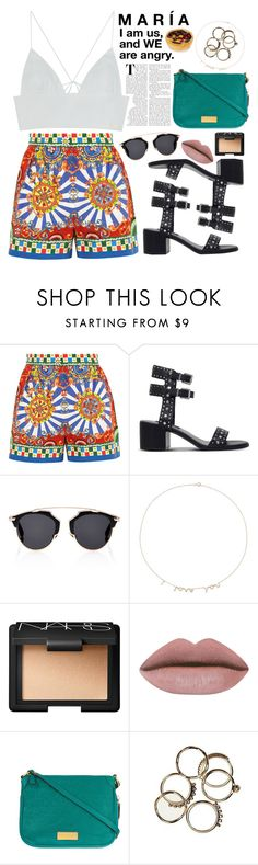 """""""Mi Historia Entre Tus Dedos."""" by mexicanfashionista ❤ liked on Polyvore featuring Dolce&Gabbana, Senso, Christian Dior, Jennifer Meyer Jewelry, NARS Cosmetics and Marc by Marc Jacobs"""