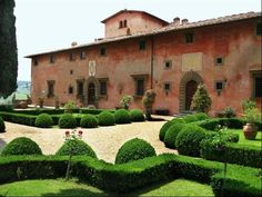 Villa Vignamaggio, Tuscany built 14th Century. The setting for 'Much Ado About Nothing' (1993) and also the family home of Mona Lisa Gherardini.