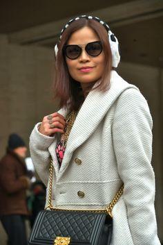 BRENTPHOTO NEW YORK: Street Fashion - New York Fashion Week, 14 Februar...