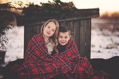 Siblings.  My Girl, My Boy, Children's photography, children's portraits, winter photos, mini sessions, out door photos, Alberta photographer, Lacombe photographer, Journey Images, girl, fur vest, tartan blanket, rustic, barnwood journeyimages12 flickr photostream