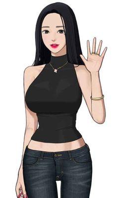 """I'm only wearing lipstick"" okay hun Chica Anime Manga, Kawaii Anime, Fantasy Characters, Female Characters, Character Art, Character Design, Chica Fantasy, Webtoon Comics, Sexy Cartoons"