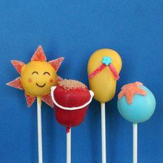 12 Beach Cake Pops for Summer, Memorial Day, Fun in the Sun, Luau, Surfer Girl theme Birthday Party, Shower, or Destination Wedding favor via Etsy
