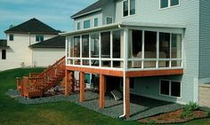 Sunrooms   Traditional   Porch   Cleveland   Patio Enclosures By Great Day  Improvements