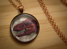 TERRIBLE TYRANNOSAURUS Necklace Original by ephemeralpillages