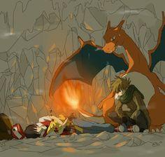 Green x Red (Pokemon) Pokemon Ships, Pokemon Fan Art, Cute Pokemon, Pokemon Stuff, Charizard Y, Pokemon Trainer Red, Pokemon Red Blue, Pokemon Special, Pokemon Images