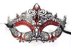 Laser Cut Metal Masquerade Masks - Luxury Venetian Filigree Masks Collection