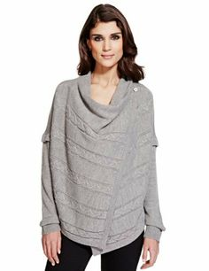 Per Una Cable Knit Asymmetric Cardigan - Marks & Spencer £35 - 3rd base casual wear