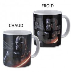 Mug Thermoréactif Combat Dark Vador Star Wars Cadeau Star Wars, Nerd Stuff, Mugs, Stars, Tableware, Gifts, Dinnerware, Tumblers, Dishes